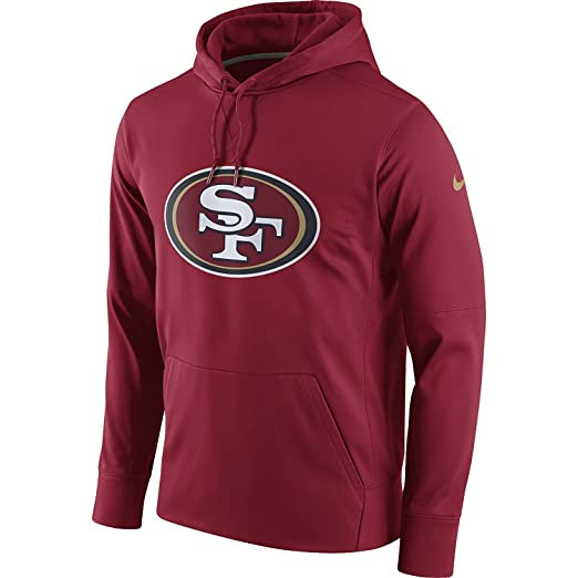 Nike Men s San Francisco 49ers Circ Logo Essential Hoodie Gym Red Club Gold  Size Medium 811b8425c