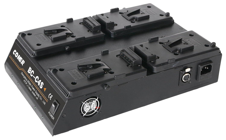 クアッド4チャネルV -マウント/ Vロックバッテリー充電器で16.8 V電源出力 B071V2W25B