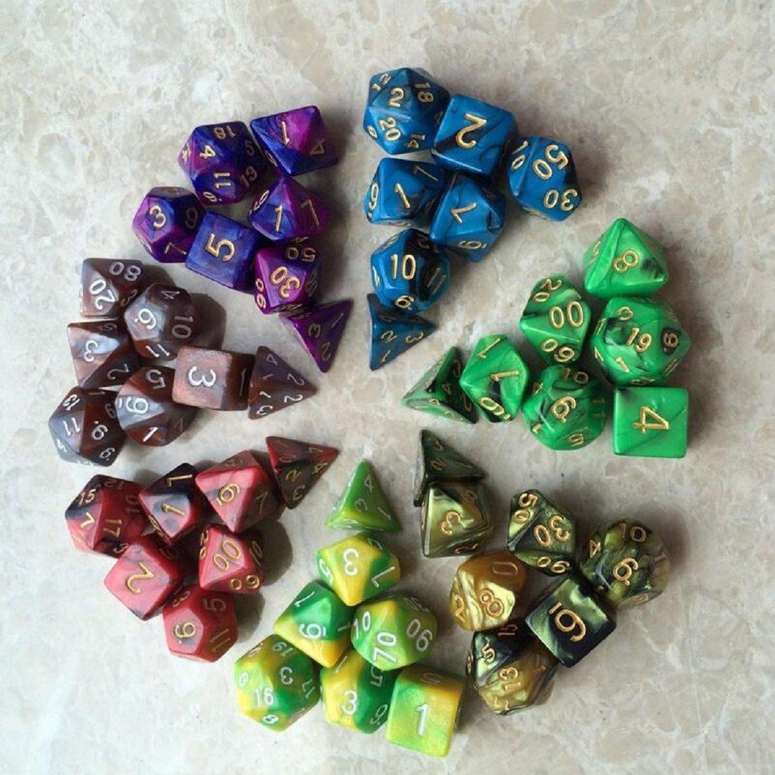 ホットセール 7 X 7 d8 ( ( 49ピース) Polyhedral Dice完了のセットd4 B07387DJJB d6 d8 d10 d12 d20のテーブルゲームw3179 B07387DJJB, シズショッピングサイト:742a7f09 --- arianechie.dominiotemporario.com