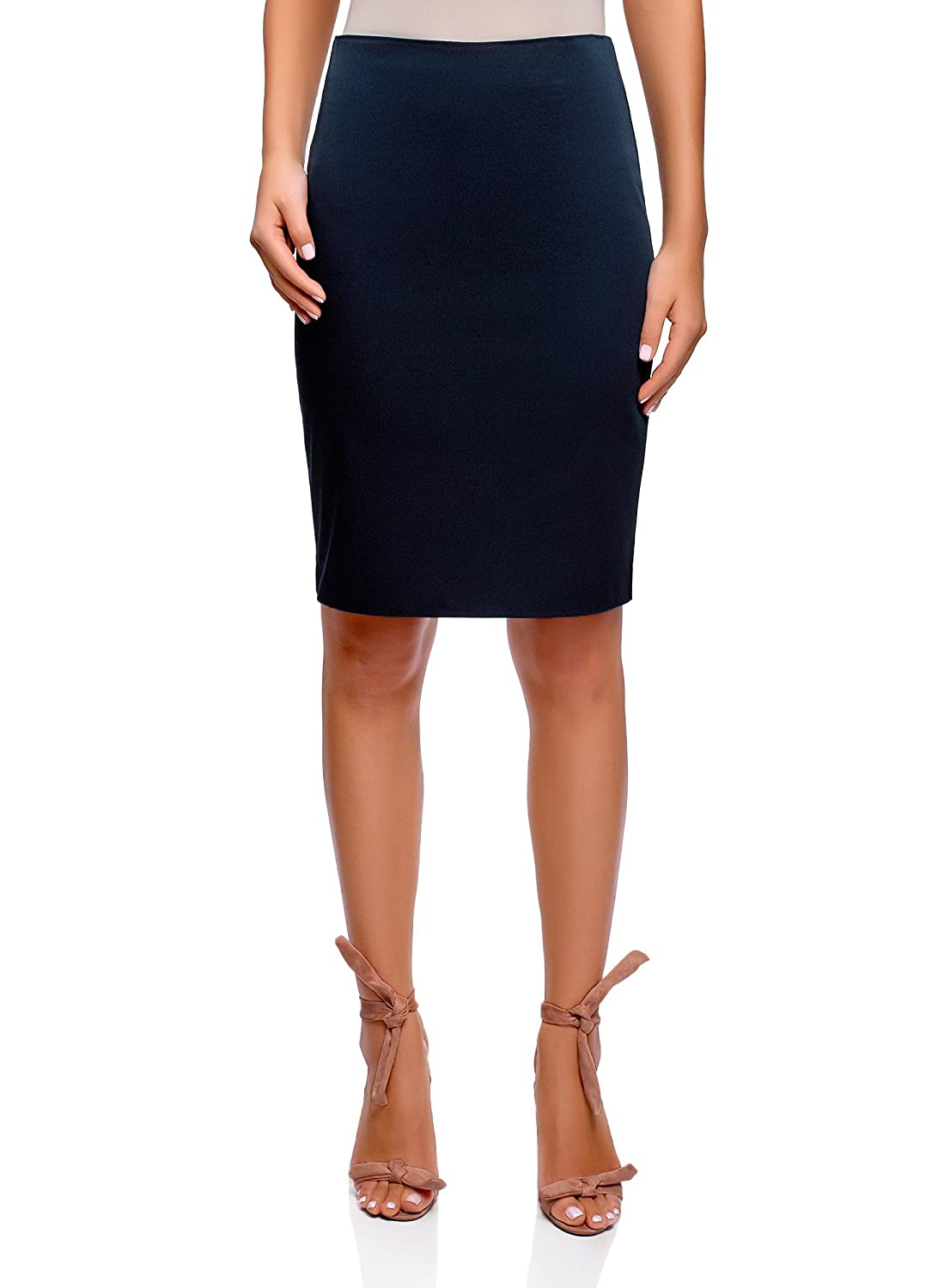 bluee (7900n) oodji Collection Women's Basic Straight Skirt