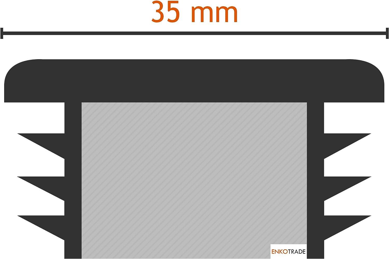 Stopfen 60x60 mm Gleiter Rohrabdeckung aus hochwertigem Polyethylen Kunststoff Kappen Rohrstopfen Quadratisch Endstopfen Enkotrade 10 St/ück Lamellenstopfen f/ür Vierkantrohre
