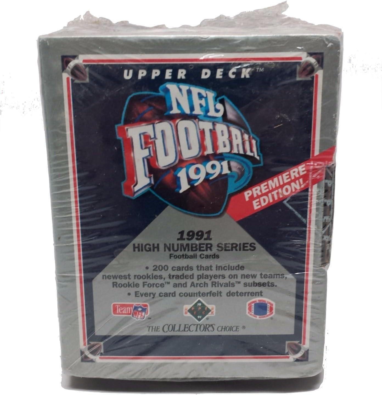 200 1991 Upper Deck High Number Series Football Factory Sealed Set