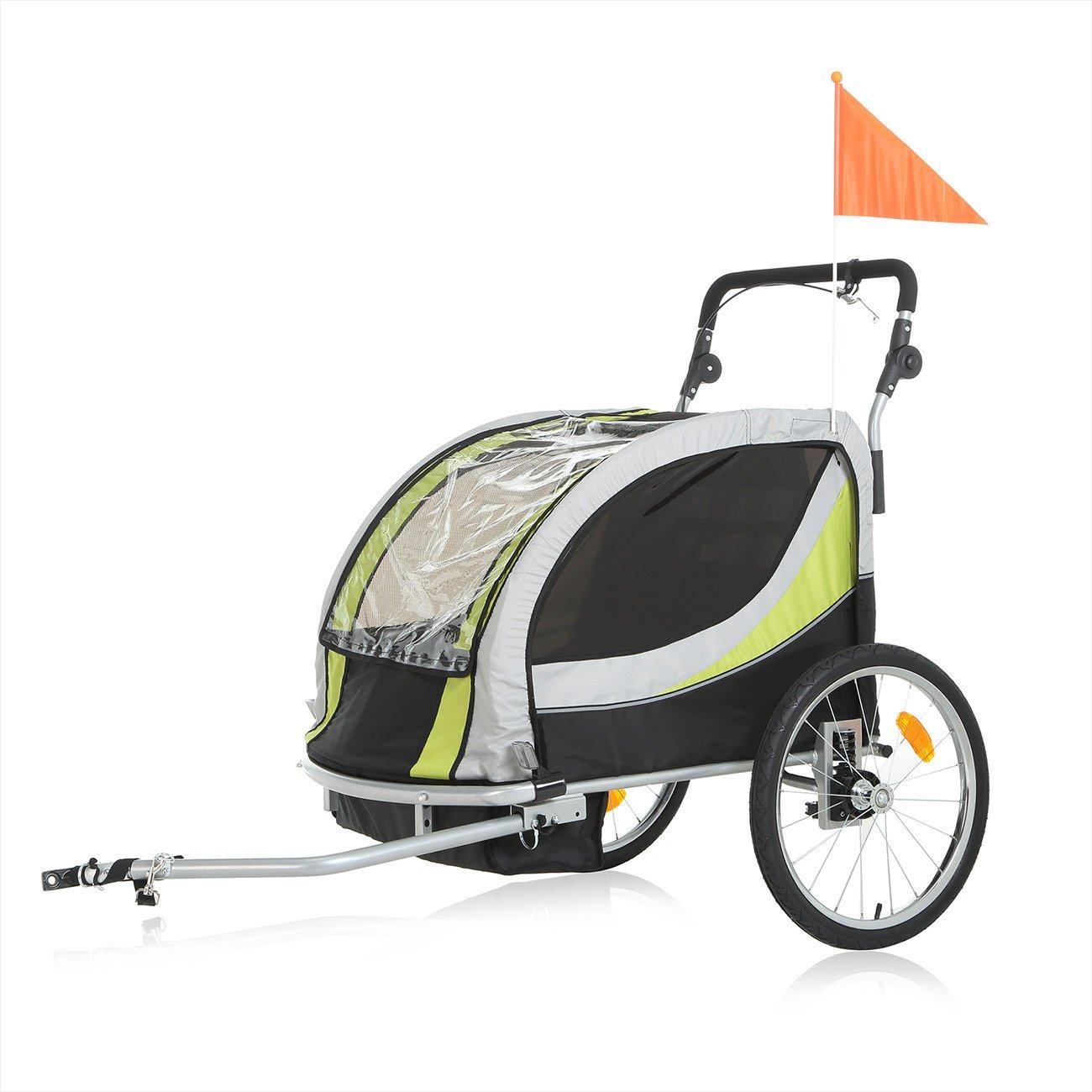 SAMAX Children Bike Trailer PREMIUM 2in1 Kids Jogger Stroller with ...