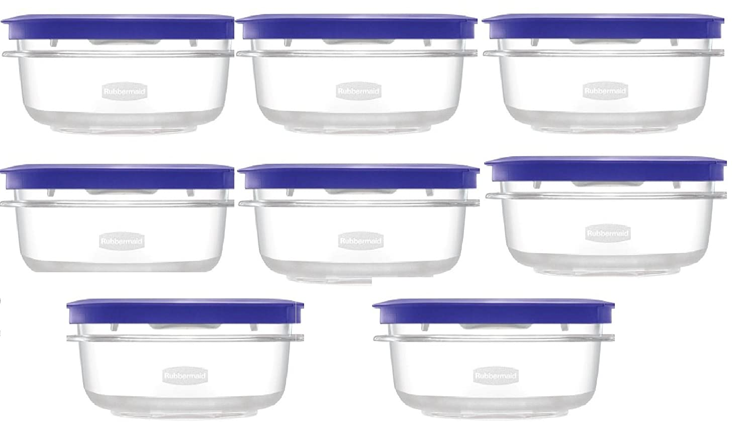 Rubbermaid Premier Plastic Food Storage Container - Iris Purple - 1.25 Cup - Set of 4