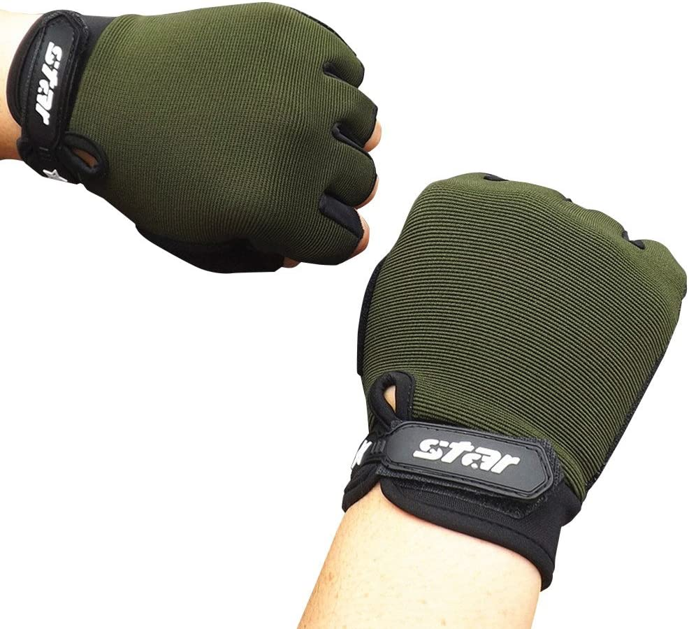Flexible Soft Denzar Half Finger Gloves,Fingerless Half Finger Driving Fitness Motorcycle Cycling Gloves- Lightweight Durable Comfortable and Breathable