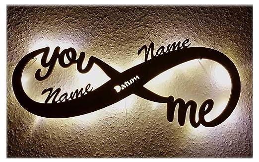 Schlummerlicht24 Led Unendlichkeitszeichen Mit Namen Liebe