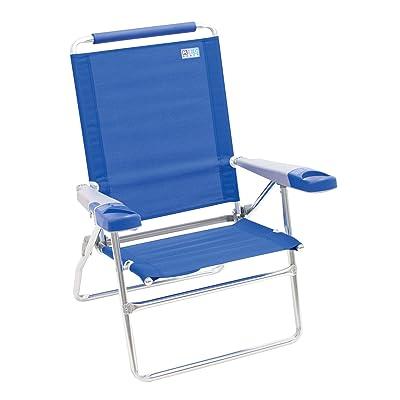 "Rio Beach 15"" Extended Height 4 Position Folding Beach Chair - Light Blue : Sports & Outdoors"