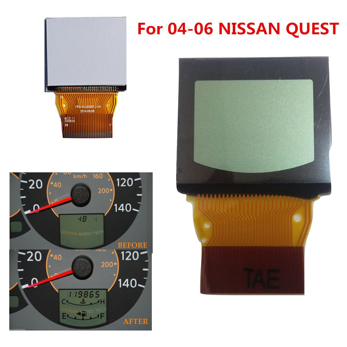 NEW LCD DISPLAY FOR NISSAN QUEST SPEEDOMETER INSTRUMENT CLUSTER 2004 2005 2006 manhong