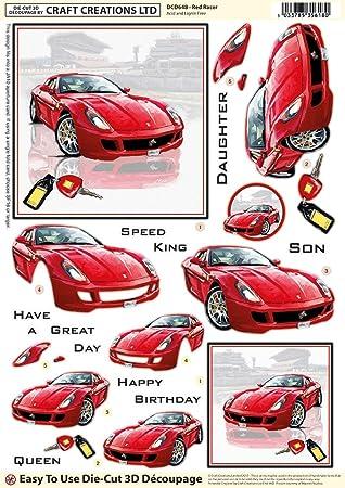 Craft Creations DCD531 3D-– dcd648 rot Racer Sport Auto – A4 210 x ...