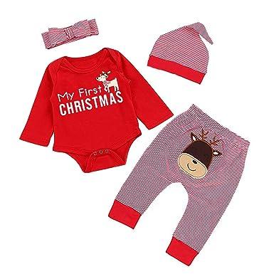 ac76eb073f2e Amazon.com  MAMOWEAR My First New Year s 2019 Clothes Sets Baby ...