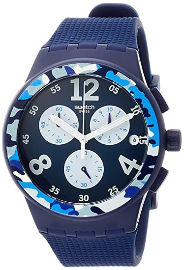 Amazon.com: Swatch watch New Chrono Plastic CAMOBLU Mens SUSN414 SUSN414 Mens: Watches