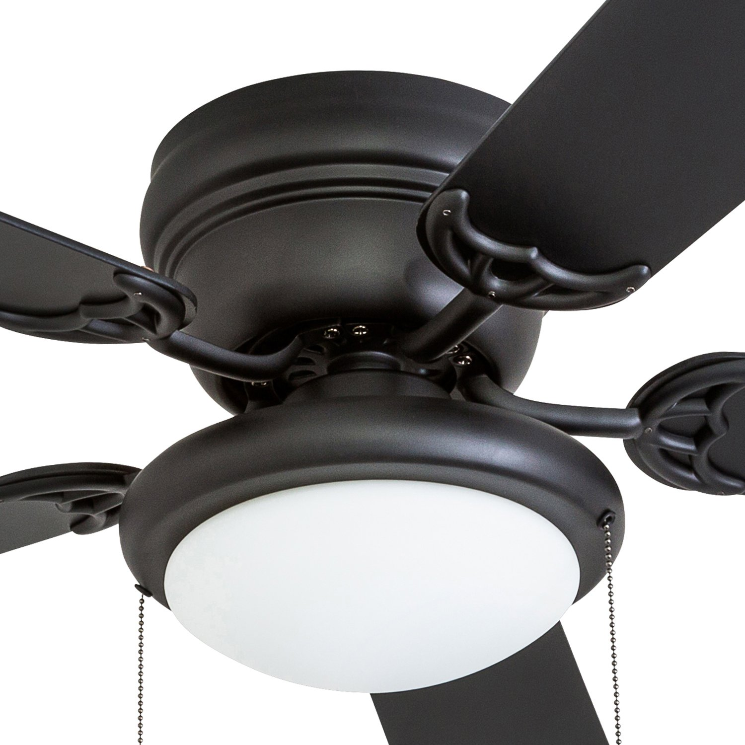 Portage Bay 50251 Hugger 52'' Matte Black West Hill Ceiling Fan with Bowl Light Kit by Portage Bay (Image #8)