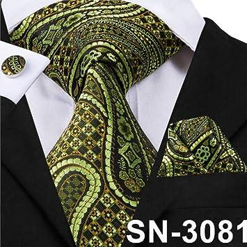 IG Carrera Hombres S Tie Sn-3191 Hombres Corbata Conjunto Paisley ...