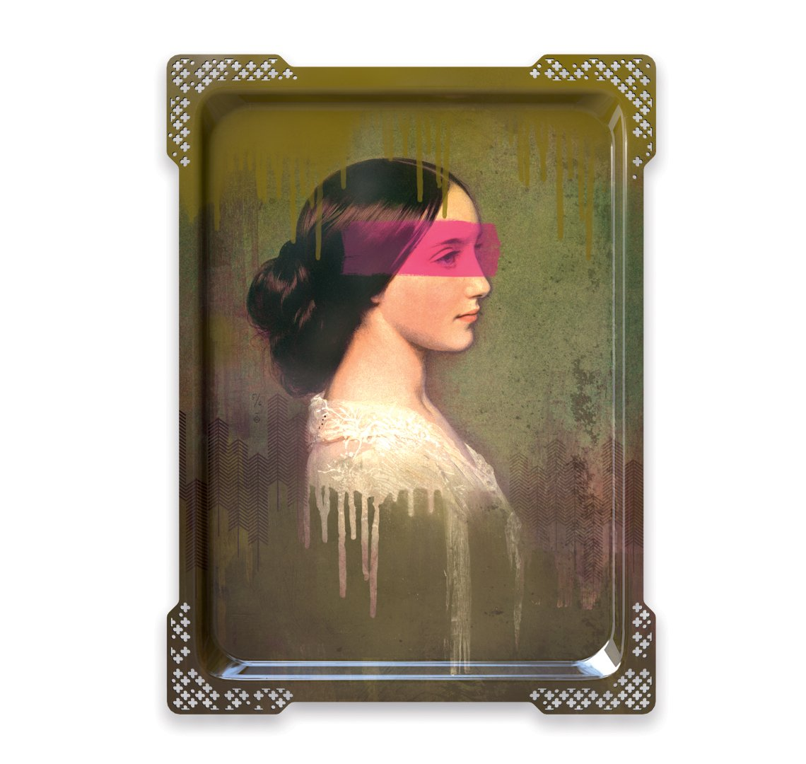 Ida Variations Number Five - Galerie De Portraits - Surreal Wall Tray Art Masterwork by iBride