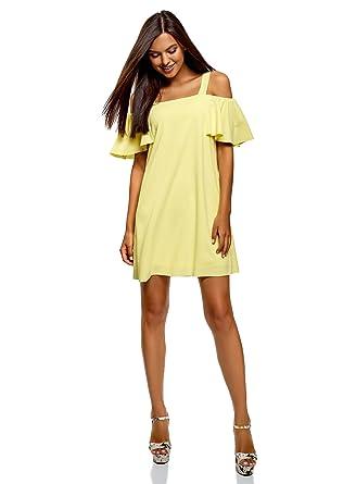 319c84512364 oodji Ultra Women s Relaxed-Fit Off-Shoulder Dress