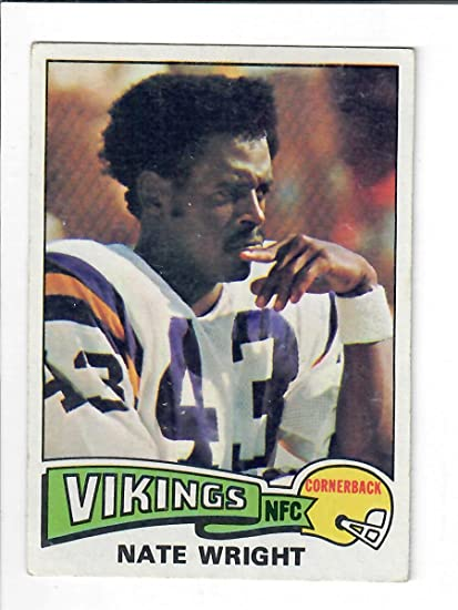 1975 Topps 130 Nate Wright Football Card53805 6 At