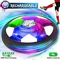 Kids Toys Hover Soccer Ball Rechargeable Air Soccer Ball, Indoor Outdoor Sport Soccer Ball Game LED Light & Foam Bumper, Holiday Toys Gift Toddler Boys Girls Age 2, 3, 4,5,6,7,8,9,10 Year Old