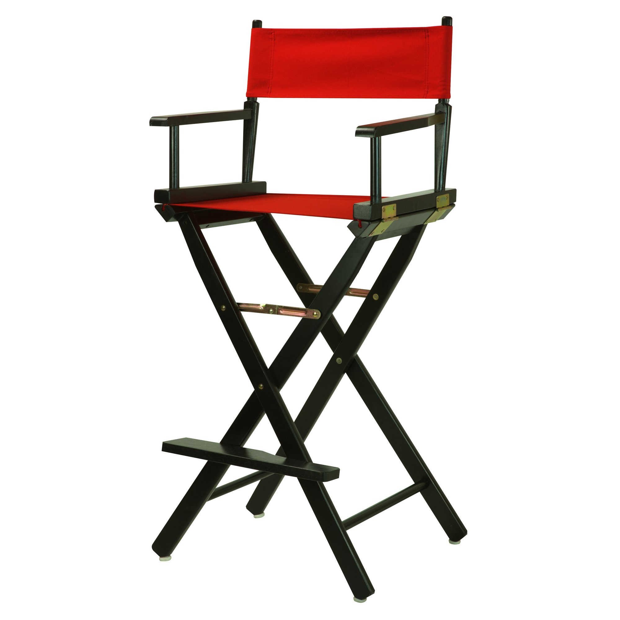 Casual Home 30'' Director's Chair Black Frame-with Red Canvas, Bar Height by Casual Home