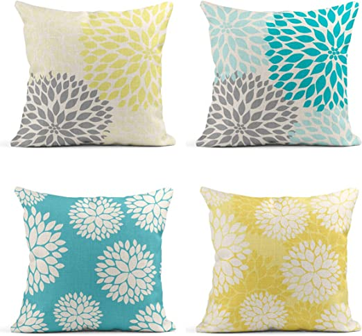Amazon.com: Tarolo Decorative Linen Throw Pillow Covers Cases Set