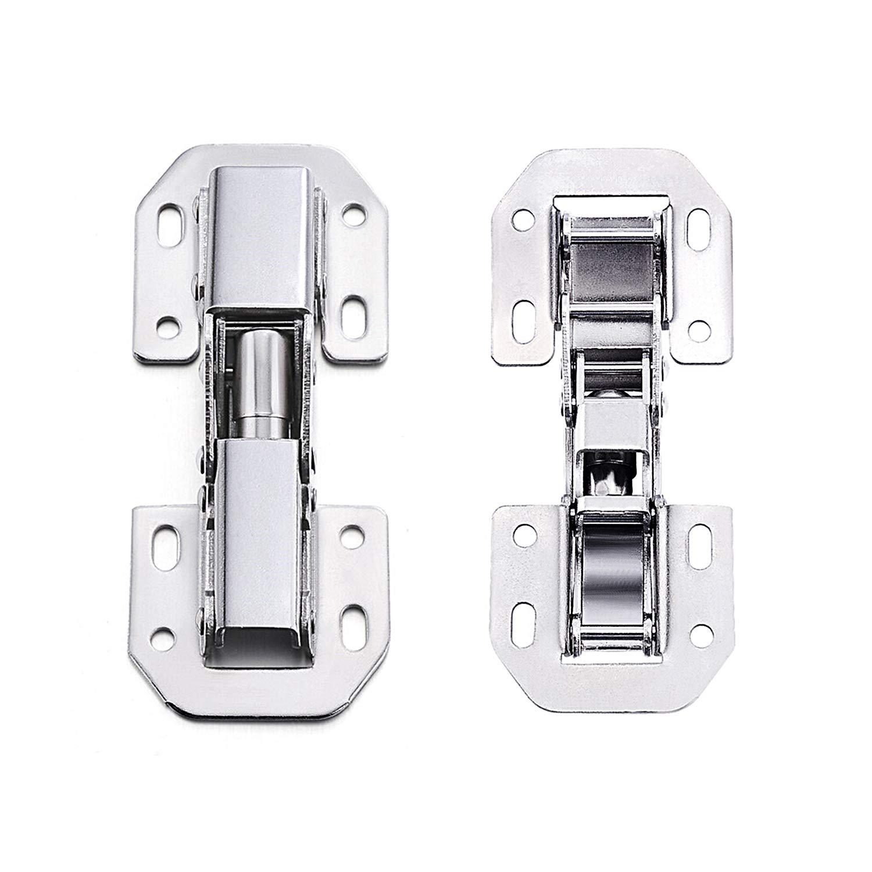 bisagra de acero inoxidable con 64 amortiguadores de fijaci/ón bisagra ranurada 8 unidades Bisagra hidr/áulica para puerta de cierre suave