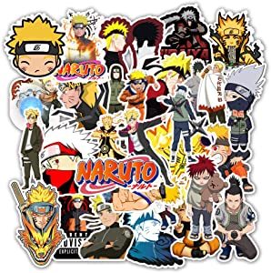 Comic Naruto Laptop Stickers Cool - 50 Pcs Vinyl Decals Water Bottle Phone Case Notebook Guitar Skateboard Travel Teen Adults Waterproof Unique
