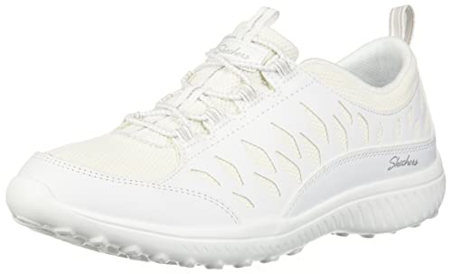 Skechers Womens BE-Light-My Honor Sneaker, White, ...