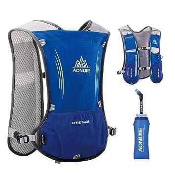 TRIWONDER Chaleco de Hidratación Ligero 5L Superior Mochila para Trail Running Ciclismo Marathoner Profesional Hombre Mujer (Azul): Amazon.es: Deportes y ...
