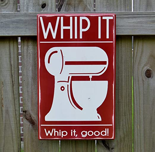 CELYCASY Whip It Whip it Good Kitchen Decor Cartel de Madera ...