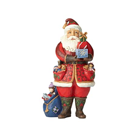 Enesco Jim Shore Heartwood Creek Santa Holding Presents