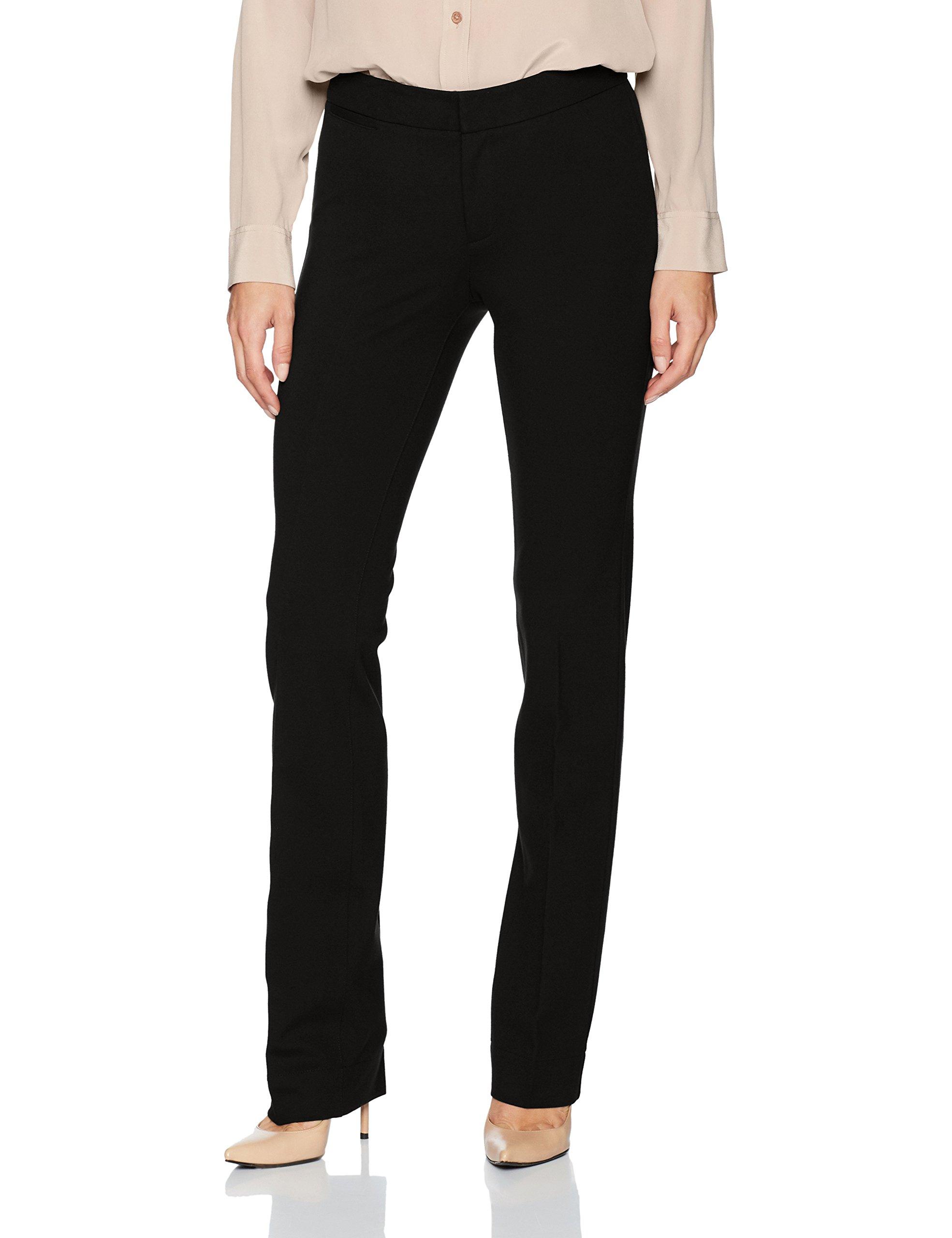 NYDJ Women's Ponte Trouser Pant, Black, 10 by NYDJ