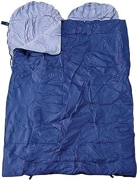 Spacious doble saco de dormir para dos personas, varios colores, - blue: Amazon.es: Deportes y aire libre