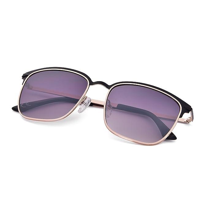 Gafas de sol, Shinetime Gafas de Sol Polarizadas Semi Sin Montura Mujeres Hombres Retro UV400