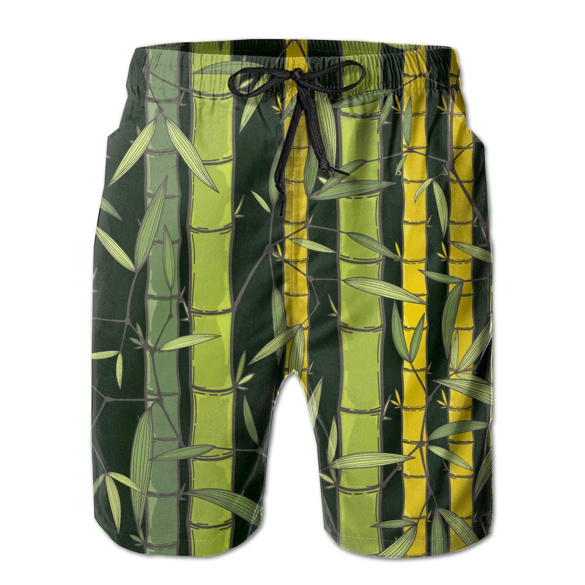 SARA NELL Mens Swim Trunks Chinese Or Japanese Bamboo Grass Oriental Surfing Beach Board Shorts Swimwear