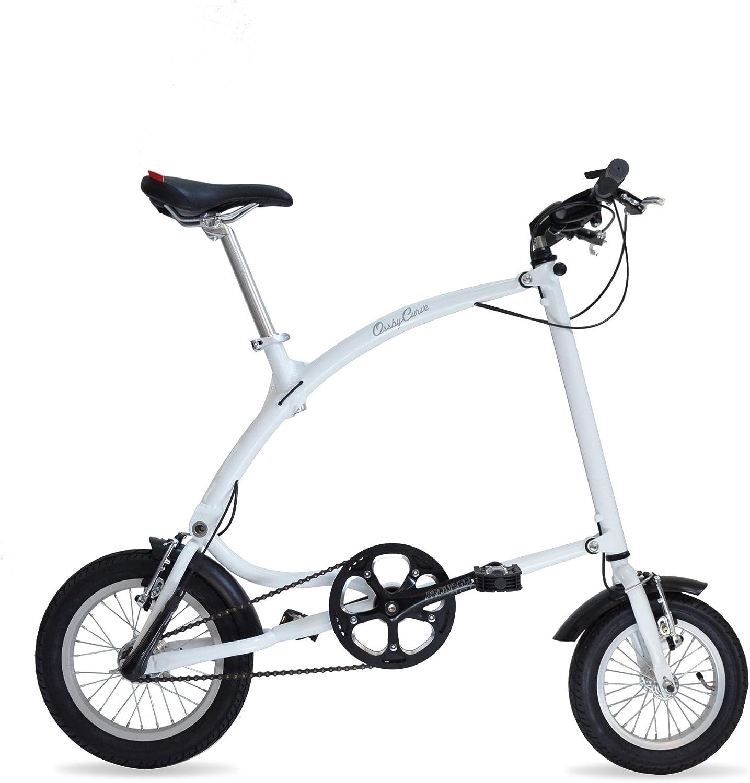 Ossby Curve Bicicleta Plegable, Unisex Adulto, Blanco, Talla Única ...