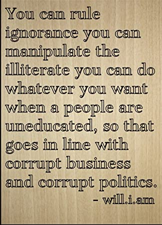 Amazoncom You Can Rule Ignorance You Can Quote By William