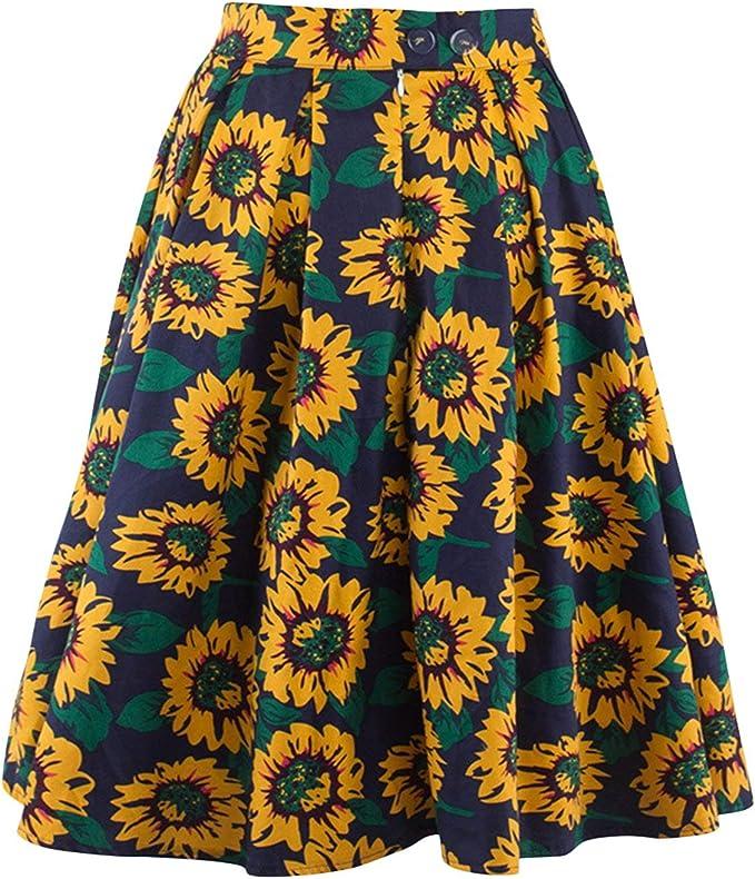 Falda Rockabilly para Mujer Falda Retro Vintage Faldas De Mode De ...