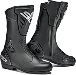 Sidi Black Rain Motorcycle Boots (11.5/46, Black)