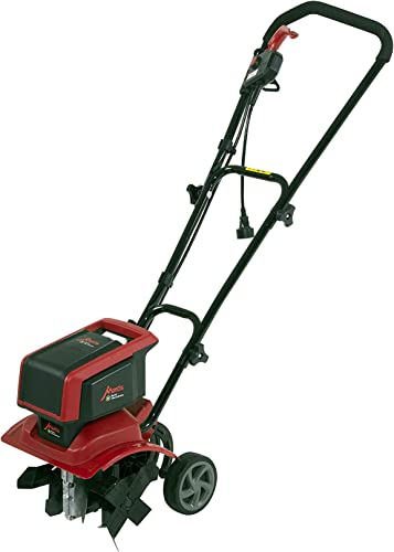Mantis 3550 Electric Tiller Cultivator, One Size, Green Red