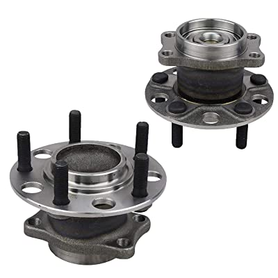 Bodeman - Pair 2 Rear Wheel Bearing and Hub Assembly NO-ABS for 2008-2010 Dodge Avenger, Caliber 2WD, 2007-2009 Sebring, Models w/Rear Drum Brakes: Automotive