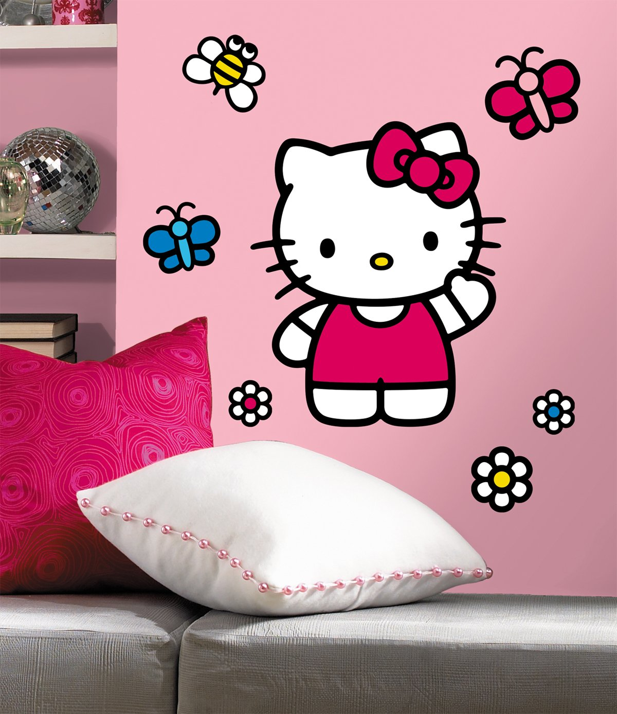 Beautiful Amazon.com: ROOMMATES RMK1679GM Hello Kitty The World Of Hello Kitty Peel  And Stick Giant Wall Decals: Home Improvement