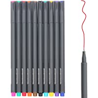 10-Pack Huhuhero Fineliner Fine Line Drawing Pen Color Pen Set