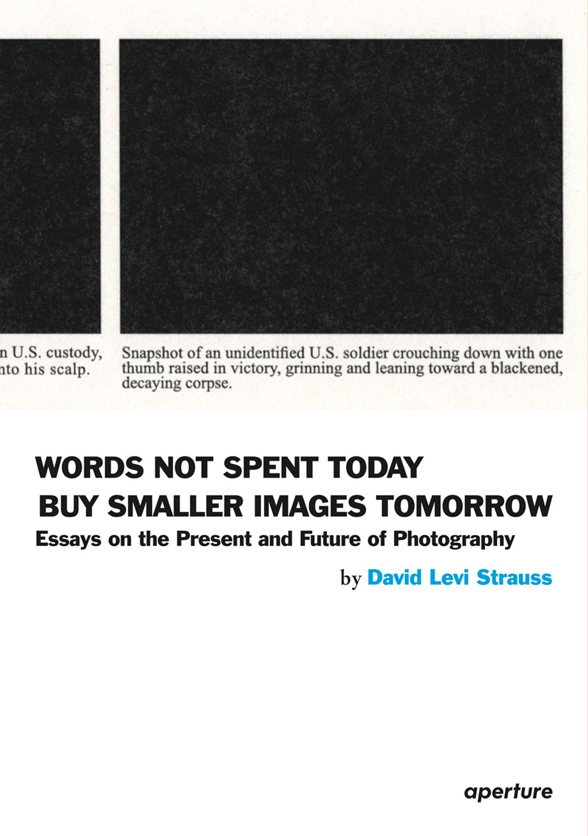 david-levi-strauss-words-not-spent-today-buy-smaller-images-tomorrow-essays-on-the-present-and-future-of-photography-aperture