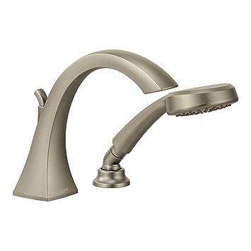 Moen T9694bn Voss High Arc Roman Tub Faucet Brushed Nickel