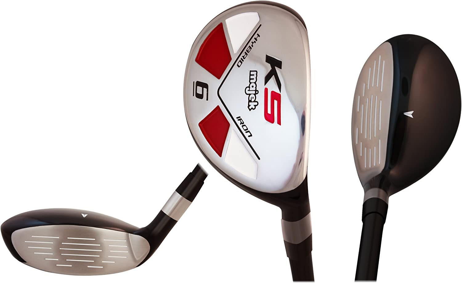 Tall Senior Golf Hybrids Big 1 Longer Than Standard Length Plus One Inch Longer Set All Complete Full Set, Which Includes 6, 7, 8, 9, PW Senior Flex Right Handed New Rescue Utility A Flex Club