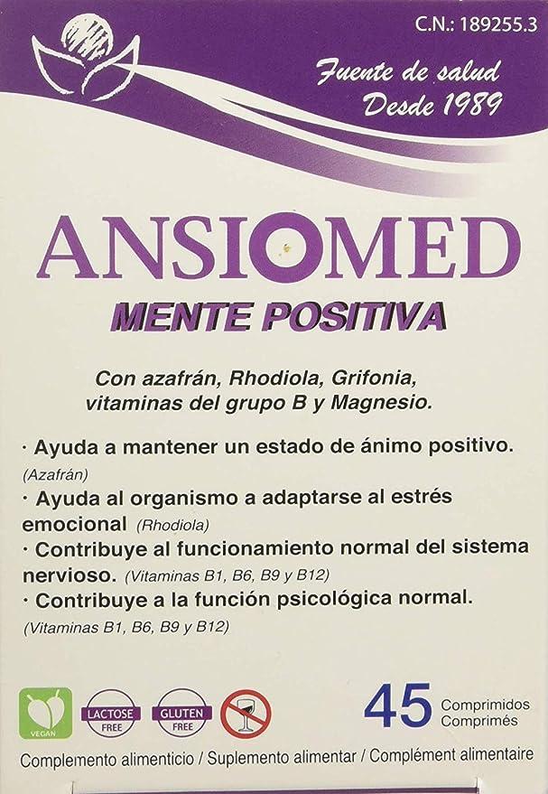 Pack Ansiomed MENTE POSITIVA 2x45 (90) CÁPS de Bioserum - Combate la ansiedad y poténcia un estado de ánimo óptimo de forma natural. Tratamiento para 45 días.: Amazon.es: Salud y cuidado personal