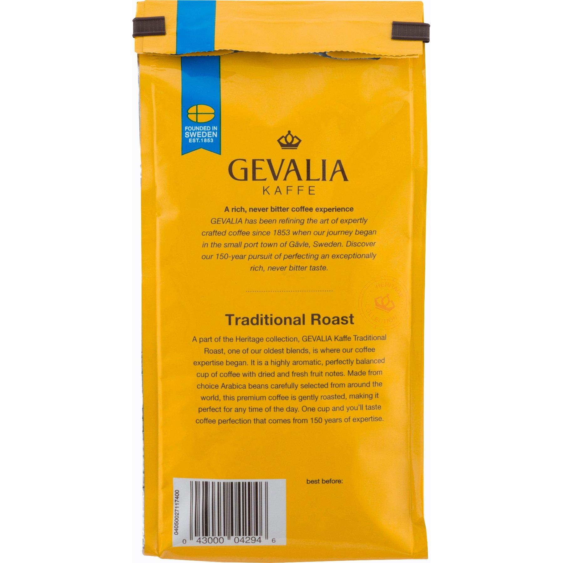 GEVALIA Traditional Roast Coffee, Mild, Whole Bean, 12 Ounce, 6 Pack by Gevalia (Image #3)