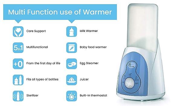 R for Rabbit Hot Bot Baby Bottle Warmer - The Multi-Function 5 in 1 Bottle Warmer Cum Sterilizer (White)