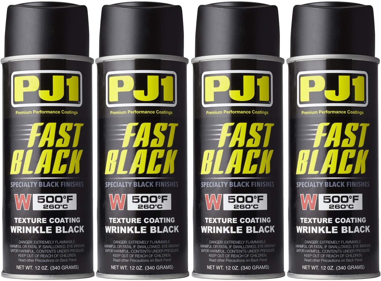 PJ1 16-WKL-4PK Wrinkle Black Spray Paint, 44 oz, 4 Pack