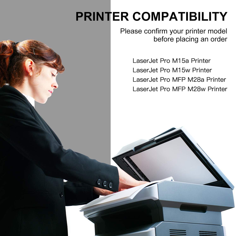 GPC Image CF244A 44A Cartouche de toner Compatible pour HP LaserJet Pro M15a M15w MFP M28a M28w Imprimante 1 Noir avec Puce