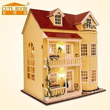 Puppenhaus   Greencolourful Handgemachte DIY Kabine Puppenhaus Miniatur  Haus Möbel Kits, Märchenhaus